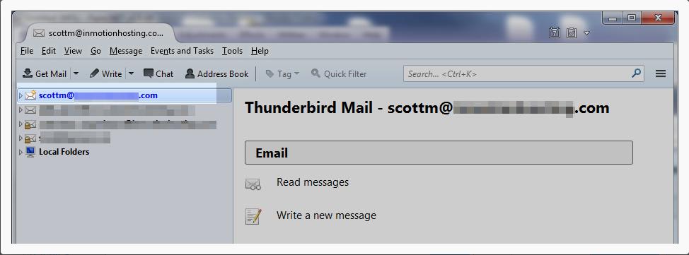 Configuration de Thunderbird - fin
