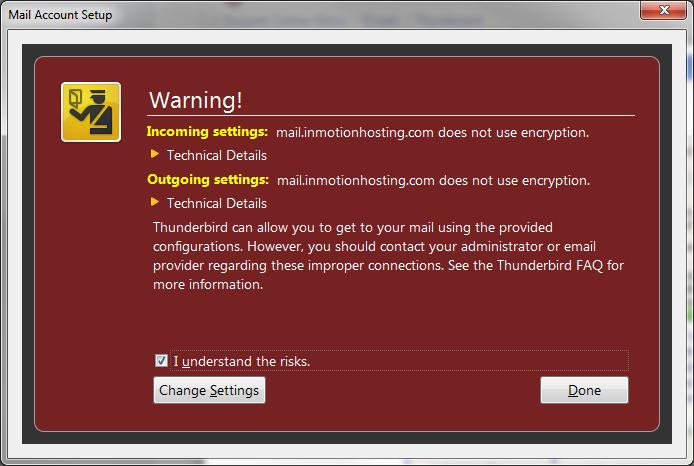 Configuration Thunderbird Mail