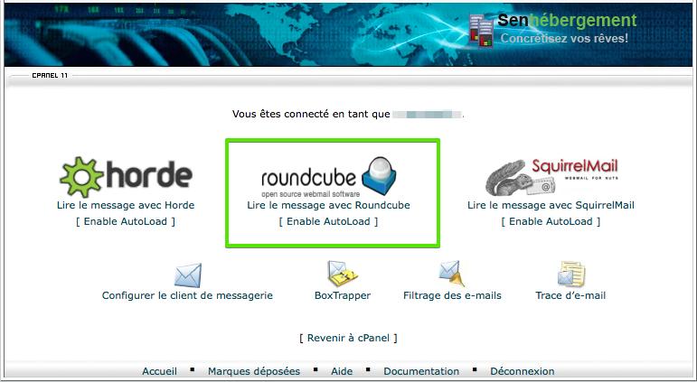 se connecter au webmail Roundcube